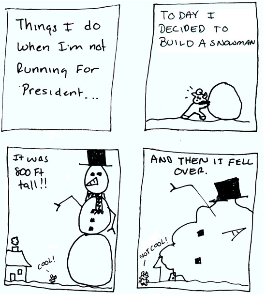Ramses builds an 800ft snowman.