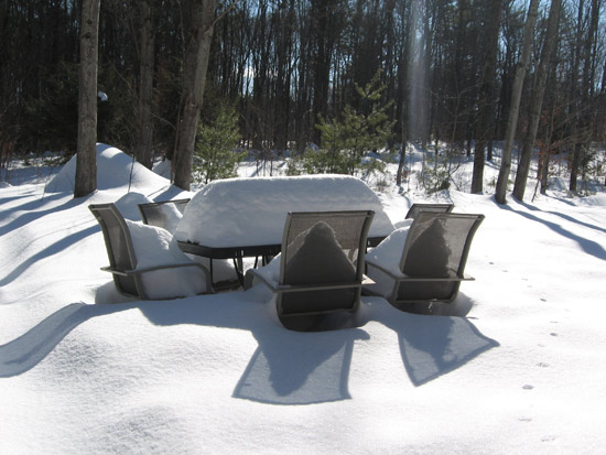 Snowy conference table