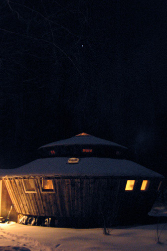 Night time Yurt