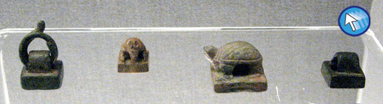 Row of chops at Shanghai Museum