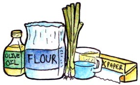 Spring onion pancake ingredients