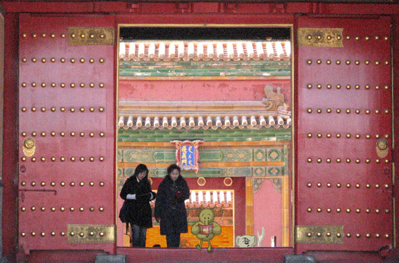Large doors at the Forbidden City