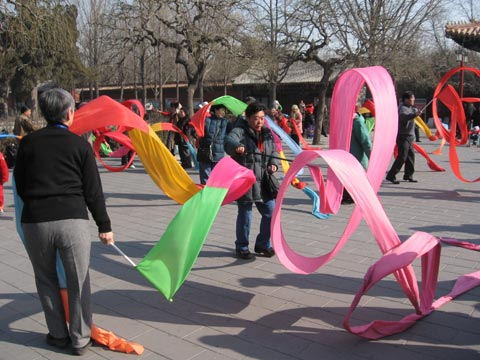 Ribbon Dancing in Jinshan Park