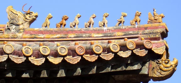 Roof Statues Forbidden City