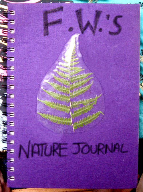 Cover to F.W.'s nature journal